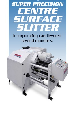 Introducing the DRC Super Precision Centre Surface Slitter  Incorporating cantilevered rewind mandrels